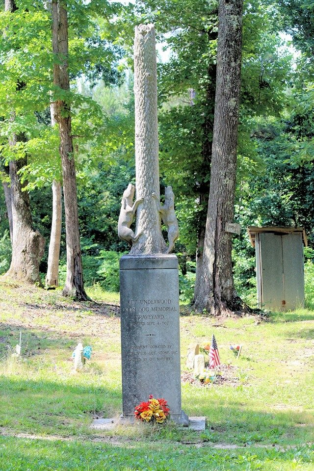 An image of the Coon Dog Cemetery.