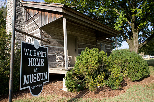 An exterior image of the W.C. Handy Home and Museum.