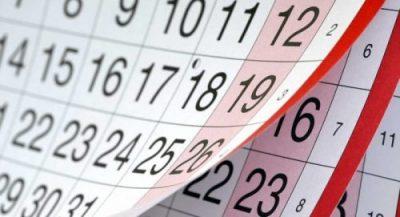 A generic image of a calendar.